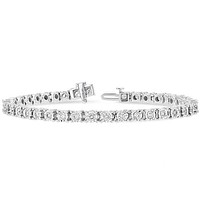 Ben Garelick 10K White Gold One Carat Diamond Tennis Bracelet