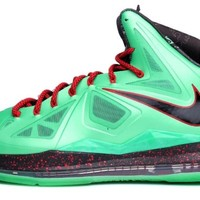 Nike Men's LEBRON 10, CHINA JADE-TRMLN/BLK-UNVRSTY RED-FBRGLSS, 8.5 M US