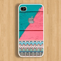 Aztec and Two Tones Wood Design Case : Iphone 4/4s case Iphone 5 case