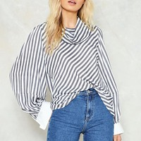 So Cowl Hearted Striped Shirt