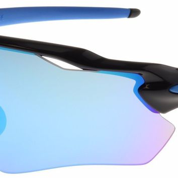 Oakley Radar EV Path Sunglasses OO9208-20 Polished Black | Sapphire Iridium NIB