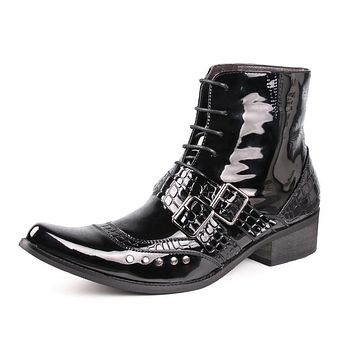 Punk Pike Snakeskin Boots