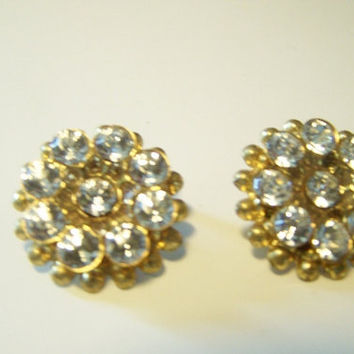 Vintage Rhinestone Shoe Clips Retro Fashion Accessory E9661