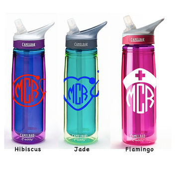 Insulated Nursing CamelBak 20 ounce 20-oz Eddy Personalized Monogram Nurse Water Bottle Sports bottles Name water bottle Gift
