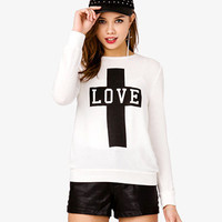 Love Graphic Sweater
