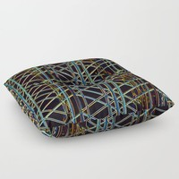Abstract Design 1 Floor Pillow by Claude Gariepy