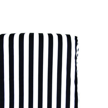 Black/White Stripe Crib Sheet - Fitted Crib Sheet, Twin or Twin XL Fitted Sheet - Pick Your Fabric and Size