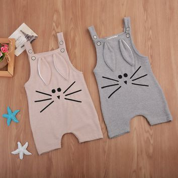 2017 Toddler Baby Boy Girl Knitting Romper Jumpsuit Winter Suspender Animal 3D Ear Baby Clothes Playsuit Outfit