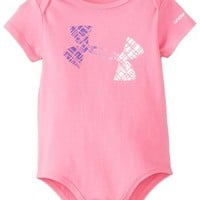 Under Armour Baby-Girls Newborn Favella Lace Logo Baselaye, Chaos/Pride/White, 3-6 Months