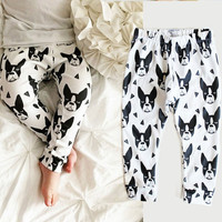 2016 New Toddler Kids Baby Boys Girls Cotton Print Casual Harem Pants Trousers Bottoms