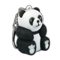 LED Sound Panda Bear Keychain