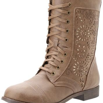 Rampage Women's Joiner Combat Boot,Taupe,6 M US