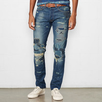 SLIM-FIT REPAIRED PARKS JEAN