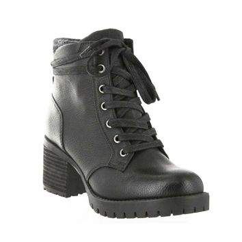 Jonel Lace Up Boot in Black