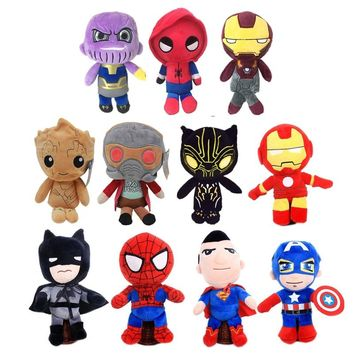 New toy! soft The Avengers 3 stuffed dolls Guardians of the Galaxy Thanos Spider-man Super hero Groot plush toys gifts
