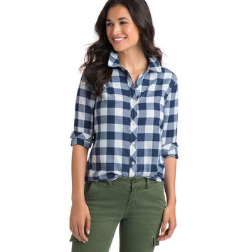 Relaxed Carmel Buffalo Check Flannel Button Down