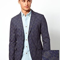 United Colors Of Benetton Blazer With Floral Print at asos.com