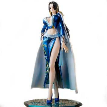 Best One Piece Anime Blue Pirates Female Emperor Boa Hancock Action Figure 23cm Furnishing Article Decoration Collectible Model