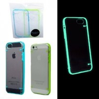 Luminous Glow in the Dark Cover Case for iPhone 5 5s (Set of 2: Blue + Green) Paragon Coast