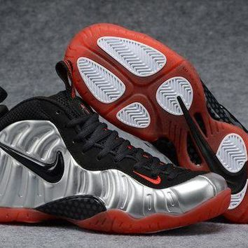 ONETOW Jacklish Nike Air Foamposite Pro Metallic Silver/black-bright Crimson Sale