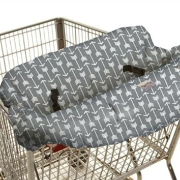 Shopping Cart & High Chair Cover in Swift Arrows