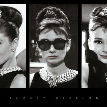 Audrey Hepburn Collage Poster