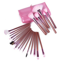 22PCS PINK superior Professional Soft Cosmetic Makeup Brush Set + Pouch Bag Case