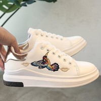 Women Fashion All-match Sport Casual Plate Shoes Embroidery Woodpecker Small White Shoes Sneakers