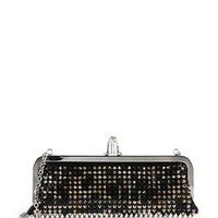 Miss Loubi Studded Patent Leather Clutch Bag