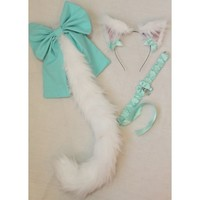 Teal Cat Set - Kitten's Playpen