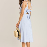 Jacie Blue Stripe Midi Dress