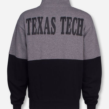 Arena Texas Tech Puff Double T on Quarter Zip Pullover