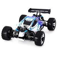 High Quality A959 Rc Car 50Km/H 1/18 2.4Gh 4WD Off-Road Buggy Rc Car Remote Control Toys for Children-Blue