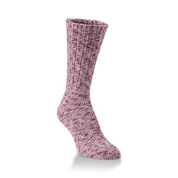 World's Softest Socks - Ragg Crew - Ribbed Leg - Adobe Rose