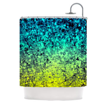 "Ebi Emporium ""Ombre Love"" Blue Yellow Shower Curtain"