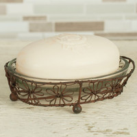 Copy of Beautiful Flower Oval Soap Dish-Set of 2