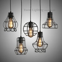Industrial Wrought Iron American Pendant Lamp