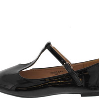 TRISS23 BLACK PATENT MARY JANE FLAT