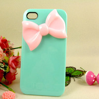 Unique Bow iPhone 4 case, Cute iPhone 4s case