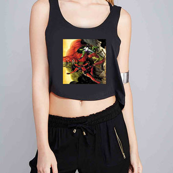 marvel hulk 18 for Crop Tank Girls S, M, L, XL, XXL *07*