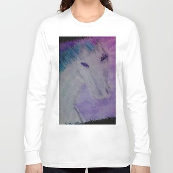 water color pony Long Sleeve T-shirt by Jessica Ivy