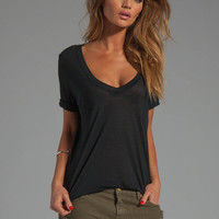 Feel the Piece Best Friend V-Neck Tee in Black from REVOLVEclothing.com