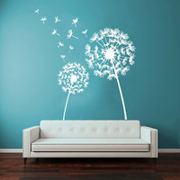 Wall Decals Dandelion Flower Vinyl Sticker Decal Art Mural Home Decor KG729