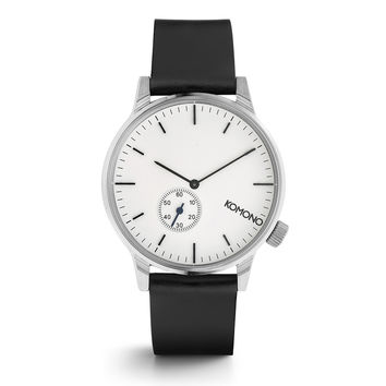 Winston Subs White Silver Watch