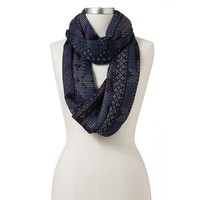 Mudd Cross-Stitch Infinity Scarf
