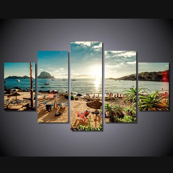 Day At The Beach 5-Piece Wall Art Canvas