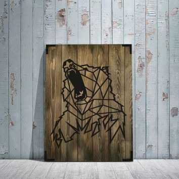 Bear Wooden Wall Art