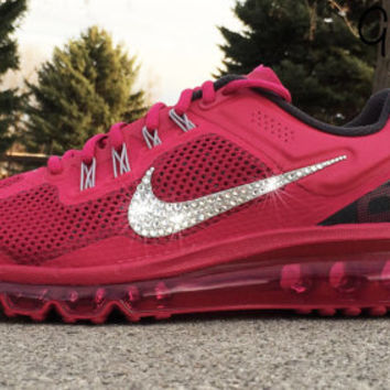 Bling Nike Air Max 2013+ Glitter Kicks Running Shoe with Hand Customized  Swarovski Cry 6b91ff03dc