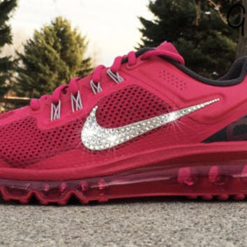 Bling Nike Air Max 2013+ Glitter Kicks Running Shoe with Hand Customized  Swarovski Cry 00be8215d