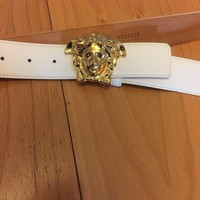 100% Authentic White Versace Medusa Head Men's Belt 115cm (Waist 40-42)